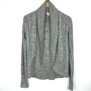 Mossimo Gray Marled Open Front Knit Cardigan